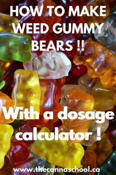 If you've ever wondered how to make cannabis edibles, but don't know where to start, you've come to the right place. This article is going to cover every aspect of making weed gummy bears. Weed Recipes, Marijuana Recipes, Cooking With Marijuana, Cannabis Edibles, Cannabis Plant, Cover, Recipes, Sweets, Kitchens