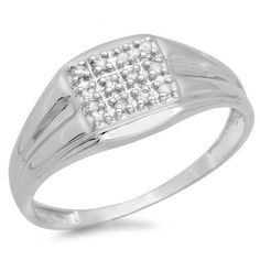 Share and get $20 off your order of $100 or more. 0.12 Carat (ctw) Sterling Silver Round White Diamond Men's Wedding Anniversary Band - Dazzling Rock #https://www.pinterest.com/dazzlingrock/