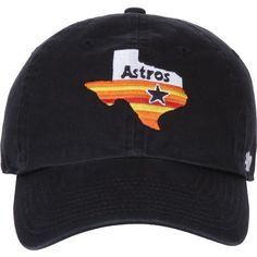 '47 Houston Astros Rainbow State Clean Up Cap (Navy, Size One Size) - Pro Licensed Product, Nfl Caps at Academy Sports