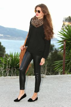Total Black+Leopard Print