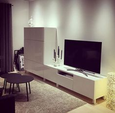 Living Room Ideas Tv Lovely Banc Tv Besta Inspirant S Besta Tv Schrank Tv Best Furniture Tv Tv Ikea, Ikea Tv Unit, Condo Living Room, Home And Living, Ikea Tv Stand, Tv Beds, Tv Wall Decor, Tv Unit Design, Ikea Home