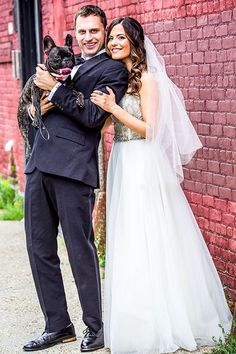 Bride and Groom With Dog | Brides.com