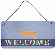 Dogue de Bordeaux Welcome Wall or Door Hanging Prints BB5574DS812