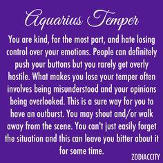 Aquarius temper
