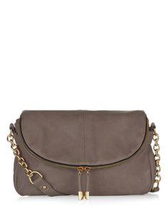 Adele Double Zip Soft Across Body Bag