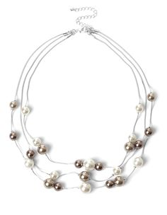 Multi strands lined with pretty neutral pearls will lightly sit along your neckline to highlight your best styles. Three-strand necklace Nickel and lead free 19 Strand Necklace, Pearl Necklace, Work Wardrobe, Cool Style, Ivory, Nude, Pearls, Silver, Jewelry