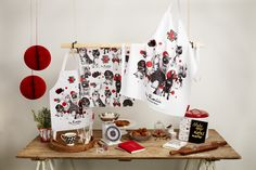 Limited-edition, adult/kids apron and tea-towel featuring Charlie, Eleanor, Albert, Florence, Alfie, Dorris, Sidney, Coco, Jonny and Bertie, and created exclusively for Red Nose Day by renowned fashion and portrait photographer, Rankin.  Available at limited Homesense UK stores.