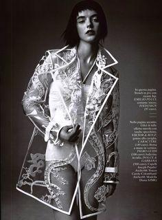 Emilio Pucci coat in Glamour Italy, April 13