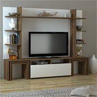 Dekorister Dante Tv Ünitesi (Beyaz-Ceviz) #dekorasyon #tvünitesi #hepsiburada