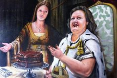 Gina Rinehart and daughter Ginia, by Warren Lane, 2013 Bald Archy winner