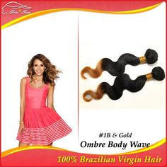 gorgeous Brazilian Virgin hair Ombre Hair Extensions queen hair pruducts 12-30inch 2pcs/lot 100g Body Wave two tone human hair $41.00 - 113.00