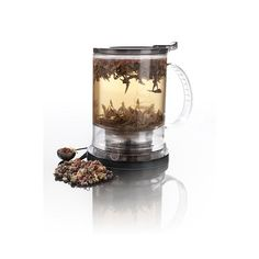 Teavana Large PerfecTea Tea Maker II: It makes four 8oz cups of tea at once and fits perfectly on PerfecTea Iced Tea Pitcher. This tea maker steeps tea quickly and drains out the bottom straining the used leaves.