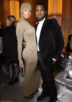 Former love: Amber Rose and Kanye West