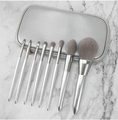 Silver Beauty Makeup Brush Set✔ Metallic design brings a different #y2k makeup style💋 #makeup #makeupbrushes #beautyindustry #OneStopSolution #customdesign #wholesale