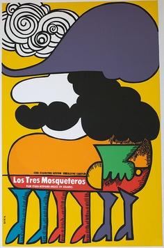 3 Musketeers, Cuban poster, Eduardo Munoz Bachs, 1976
