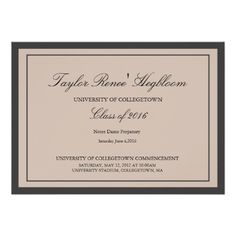 black grad hat hand stamped open house invitations justins party