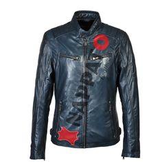 Leather man Jacket 9903 Donker Blauw