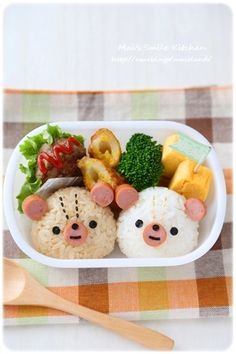 Bento Box Lunch For Kids, Bento Kids, Cute Lunch Boxes, Japanese Food Art, Japanese Lunch Box, Kawaii Bento, Cute Bento, Animal Themed Food, Desserts Japonais