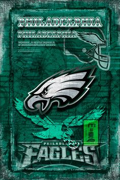 A personal favorite from my Etsy shop https://www.etsy.com/listing/455308684/philadelphia-eagles-layered-poster