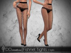Highwaisted Fishnet Tights in 2 styles Found in TSR Category 'Sims 4 Female Everyday'