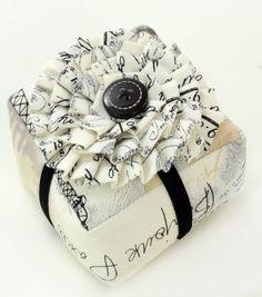 Pincushion-Square W Fabric Flower
