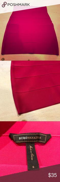 Hot Pink BCBG Bandage Skirt BCBG bandage skirt, hot Pink! So cute BCBG Skirts Pencil