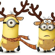 Cute reindeer minions Minion Definition, Minion Names, Yellow Minion, Minion Craft, Minions What, Despicable Minions, Minion Gif, Minion Movie, My Minion