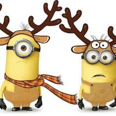 Cute reindeer minions