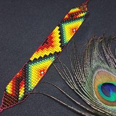 Sacred Ceremony Amulets Handmade Sacred Geometry Jewellery | Etsy Seed Bead Patterns, Beading Patterns, Jewelry Art, Beaded Jewelry, Bead Loom Bracelets, Native American Beading, Peyote Stitch, Loom Beading, Bracelet Patterns