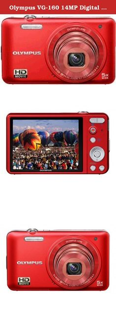 Olympus VG-160 14MP Digital Camera with 5x Optical Zoom (Red) (Old Model). Brains and beauty - the VG-160 has it all and then some. This is the camera that offers all the extras without the extra costs. With creative features including One-Touch HD Video, Magic Art Filters, a 26mm Wide-Angle Lens and 5x Optical Zoom.
