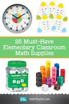 25 Must-Have Elementary Classroom Math Supplies That You (and the Kids!) Can Count On. Need classroom math supplies? We've got you covered! This list of 25 essentials has everything from graphing boards to magnetic boards and fraction towers! Classroom Supplies, Math Classroom, Classroom Organization, School Supplies, Math Teacher, Teaching Math, Teaching Resources, Hands On Activities, Math Activities
