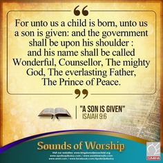 Isaiah 9 6, New Jerusalem, Prince Of Peace, Davao, A Child Is Born, Son Of God, Apollo, Worship, Philippines