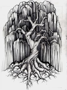 Willow Tree Tattoo Design