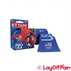 """KT Health - 902025-3 - KT Synthetic Tape Team USA Pro, 4"""" x 4"""", Blue"""