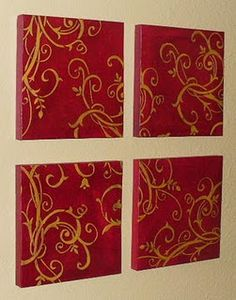 Stenciled canvases