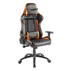 Techni Sport TS-5000 Ergonomic High Back Computer Racing Gaming Chair in Orange