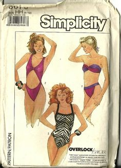Vintage Simplicity Swim Suit Pattern One Piece by TheIDconnection, $40.00
