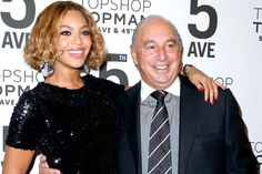 Beyonce and Sir Philip Green celebrate the opening of the Topshop Topman New York City Flagship store