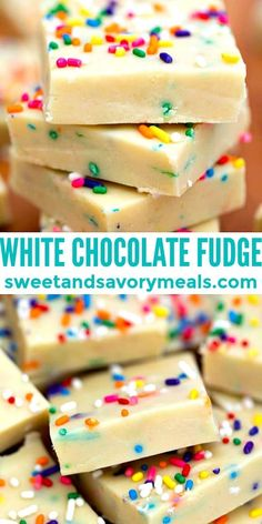 White Chocolate Fudge Recipe: classic dessert [Video] - Sweet and Savory Meals Classic Desserts, Sweet Desserts, Sweet Recipes, Delicious Desserts, Yummy Food, White Chocolate Fudge, Chocolate Desserts, Fudge Recipes, Dessert Recipes