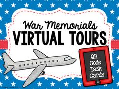 Students will scan the QR code on each task card using their device. They will then watch a short video clip hosted on Vimeo about the memorial. Clips include more information about the memorials and accounts from veterans. Cards will print 4 to a page.  Memorials include: •Tomb of the Unknown Soldier •USS Arizona Memorial •Vietnam Veteran's Memorial •D-Day Memorial •Korean War Veteran's Memorial •WWII Memorial •Arlington National Cemetery •War Dog Memorial