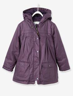 Девочки пушистые с подкладкой куртка - сайт vertbaudet анфан