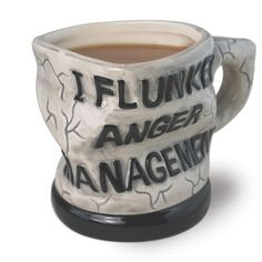I Flunked Anger Management Ceramic Mug //Price: $33.65 & FREE Shipping //     #funny, #funnystuff #gags
