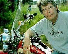 Stephen King on bike