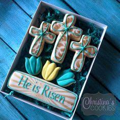 Cross Cookies, Cut Out Cookies, Fun Cookies, Cupcake Cookies, Sugar Cookies, Cookies Et Biscuits, Cupcakes, Easter Cookies, Easter Treats