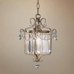 "Feiss Gianna Scuro 10 1/2"" Wide Gilded Silver Chandelier -"