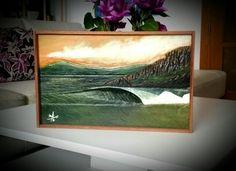 """Derecha Montalvo"" - Acrílico s/ madera tallada. Texturas Gesso, pátina y barniz.  Tamaño 50x30 cm. Expuesto en Wallssurfshop. Pontevedra. #3Dart #wallssurfshop #almonsurfart @almonsurfart"