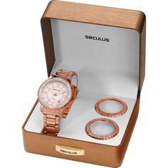 [PRESENTEPAPATROAMOB]Relógio Feminino Seculus Analógico Social 24773lpsfrs3 - R$116,91