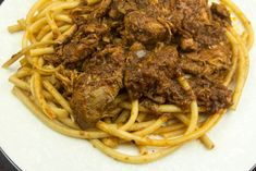 Greek Recipes, Spaghetti, Cooking Recipes, Pasta, Beef, Ethnic Recipes, Food, Meat, Chef Recipes