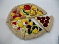 Crochet Pattern- PIZZA - playfood / toys - PDF. $5.99, via Etsy.