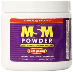 Natural Balance MSM Unflavored Powder 320 Grams *** Click on the image for additional details.